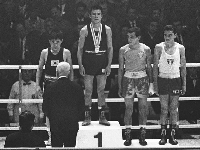 Takao Sakurai on the podium