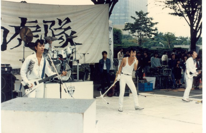 Rock and rollers in Harajuku in 1986