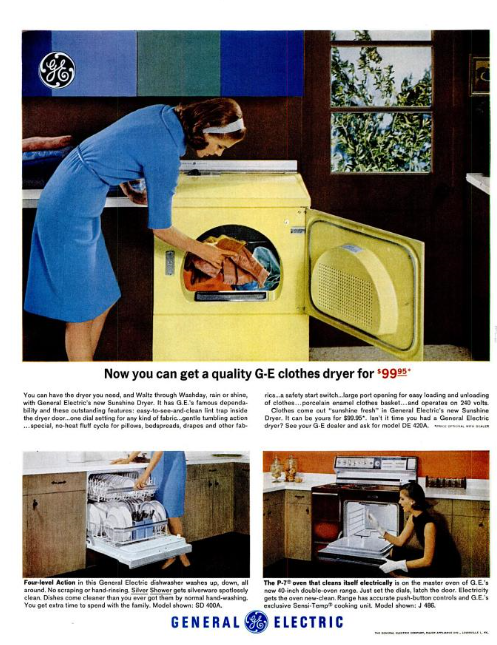 A GE advertisement in Life Mgazine, October 9, 1964