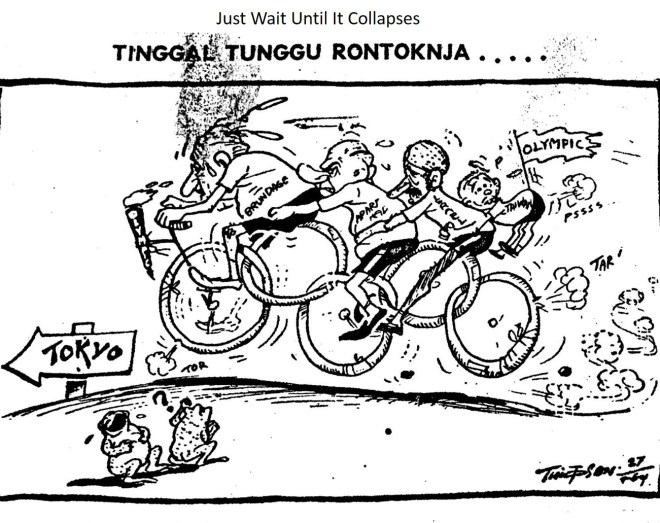 CARTOON: Just wait until it collapses, Warta Bhakti- 26 September 1964