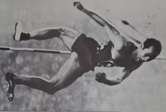 Valery Brumel at the Tokyo Games in 1964, from the book