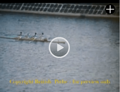 Pathe Video of Coxless Fours Tokyo Olympics Toda Rowing Course
