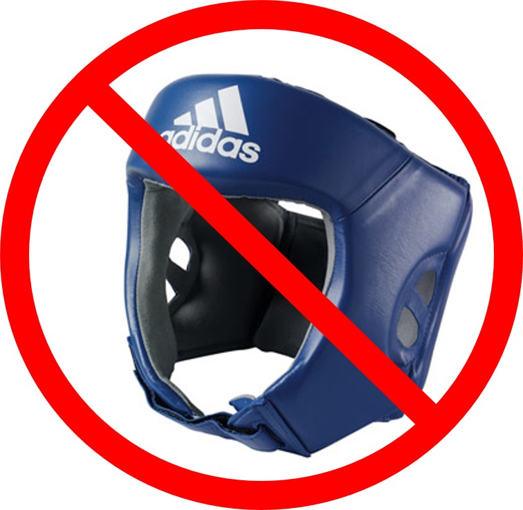 boxing helmets banned