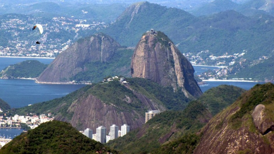 The view of Barra de Tijuca from Pedra Gavea