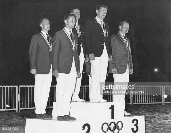 Flying Dutchmen medal podium 1964