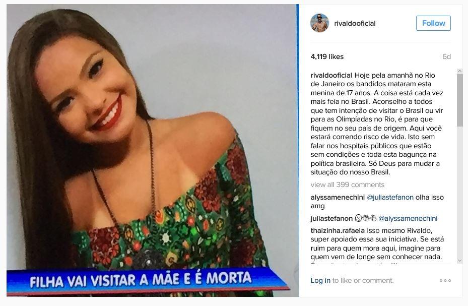 Rivaldo Instagram image