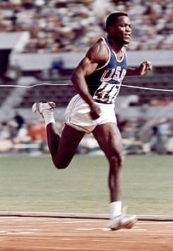 Rafer Johnson running in 1960
