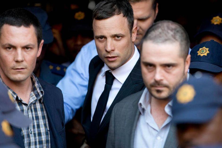 Oscar Pistorius led away