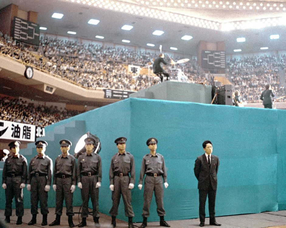 security-at-the-budokan-for-the-beatles