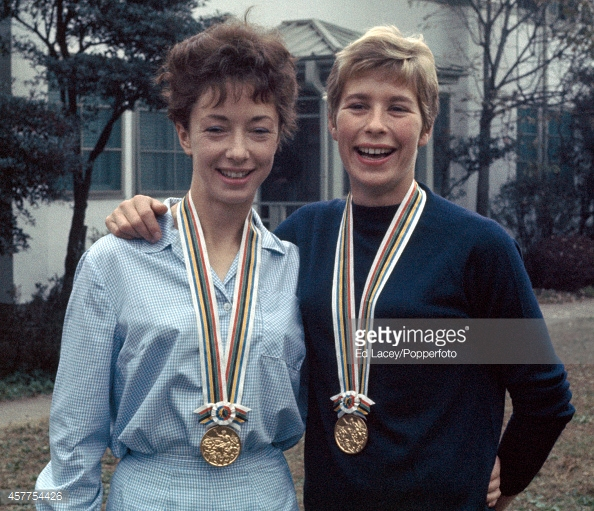 ann-packer-and-mary-rand-with-their-gold-medals