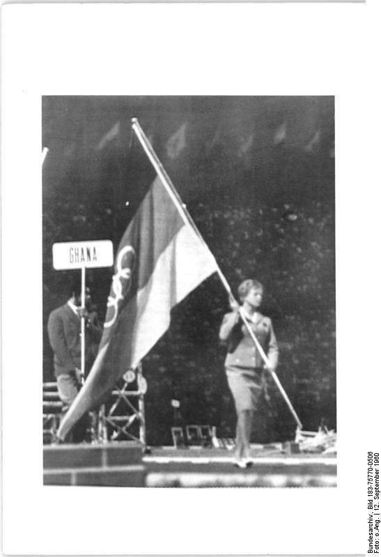 ingrid-engel-kraemer-carries-german-flag-at-rome-olympics-closing