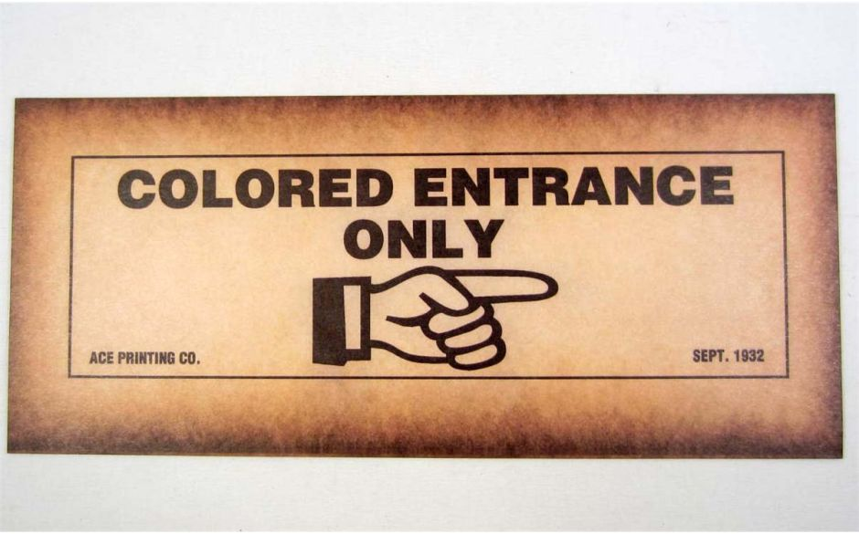 colored entrance only