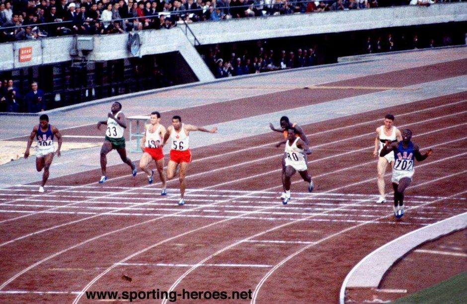 Mel Pender Bob Hayes_1964 100 meter finals
