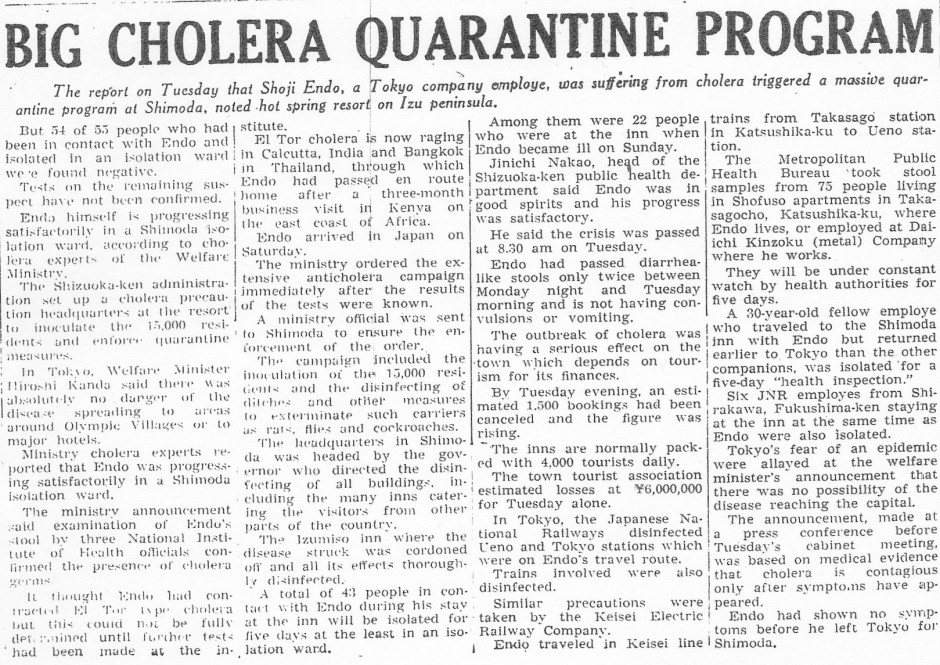 Cholera Quarantine_Yomiuri_14oct1964