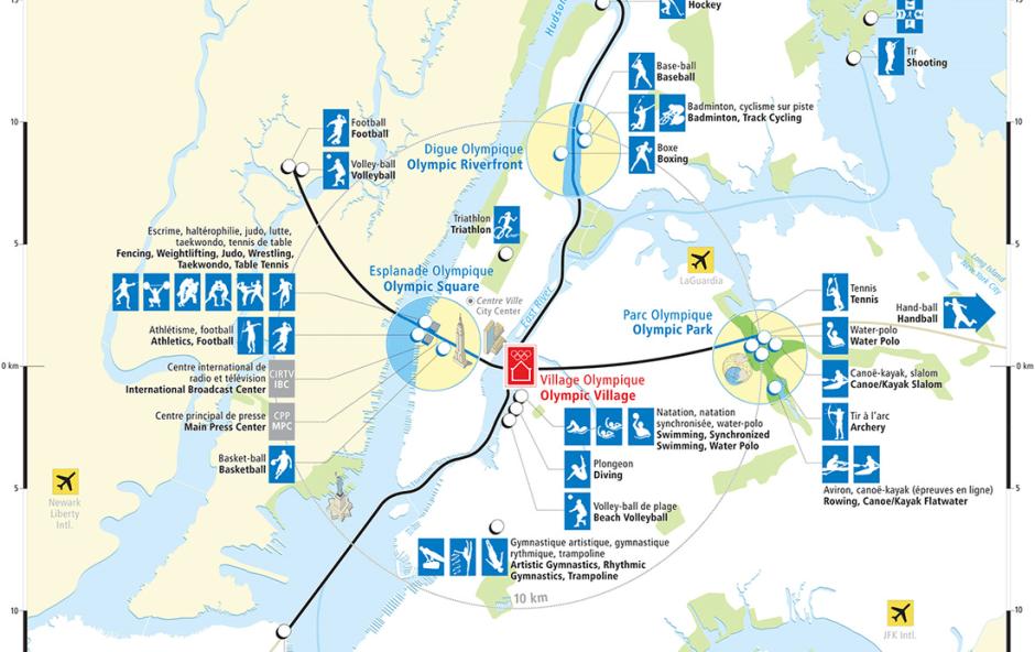NYC2012 venue map