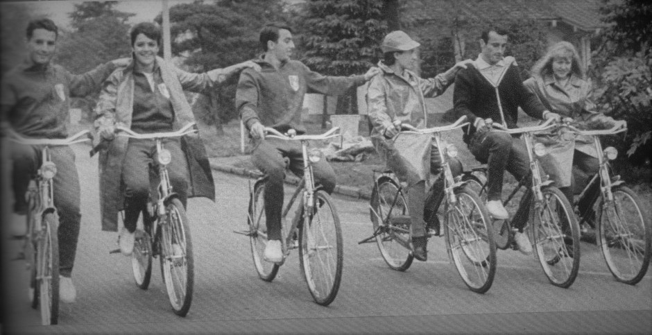 Members of the French Olympic Team on bicycles_Bi to Chikara