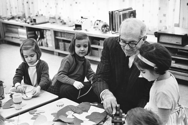 Benjamin Spock with children