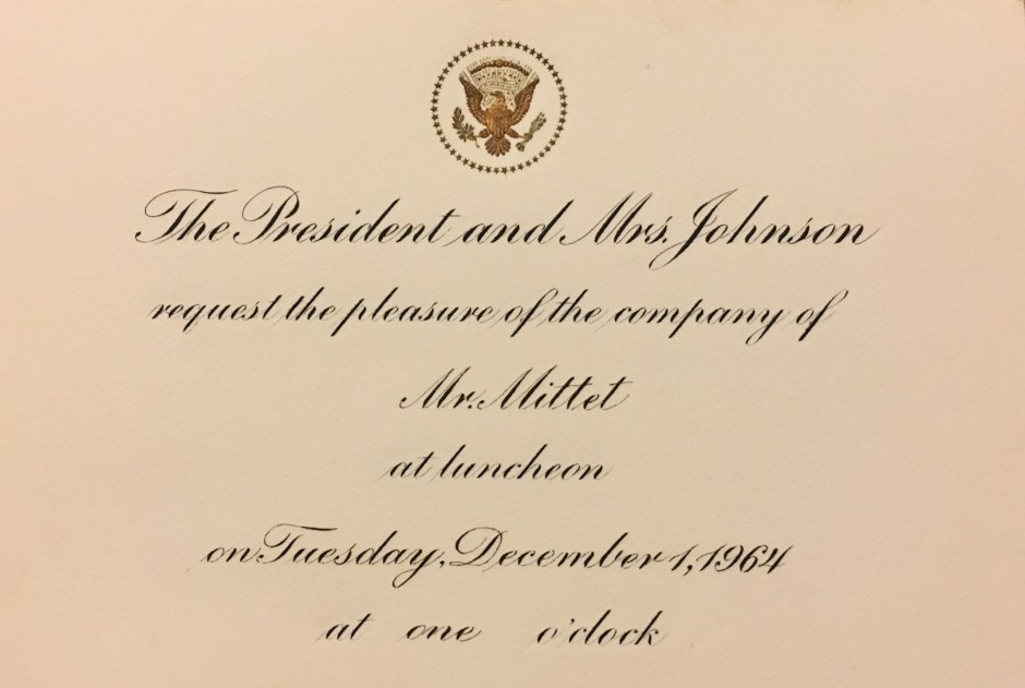 White House Invitation Card 2