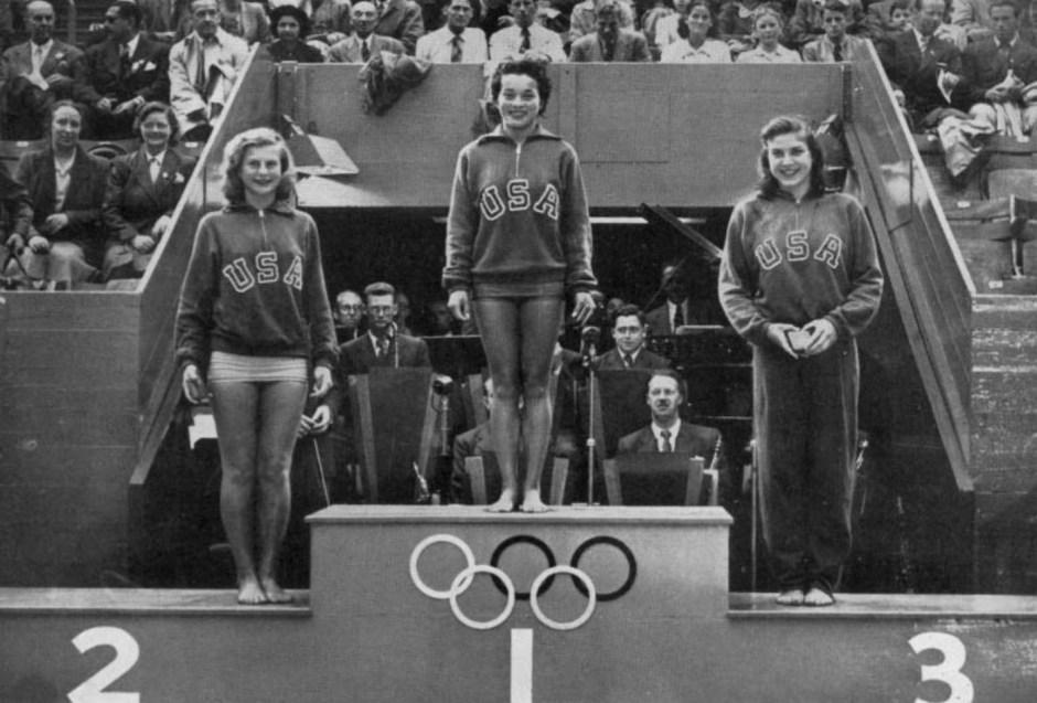 Zoe Ann Olsen, Vicki Draves and Patsy Elsener