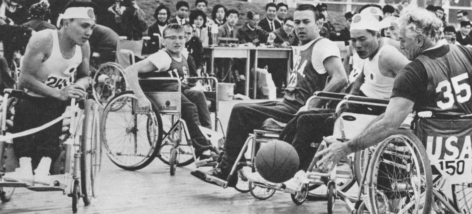 1964 Paralympics_US vs Japan basketball
