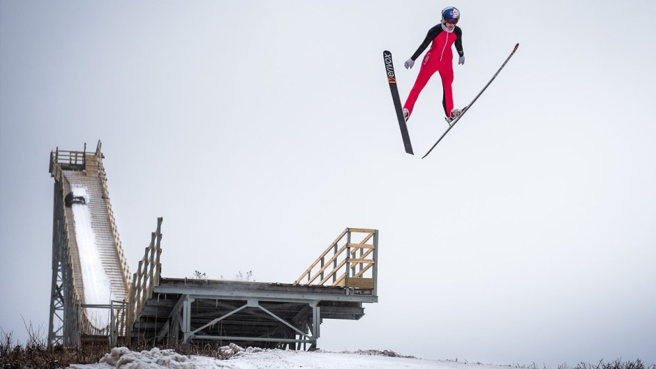 Ski Jumper Sarah Hendrickson Takes Flight on the Sleeping Giant