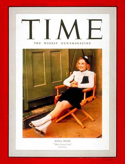 Sonja Henie_TIME Magazine Cover_July 17, 1939