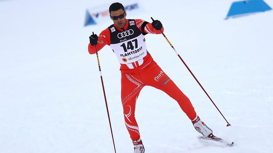 Pita Taufatofua on skis
