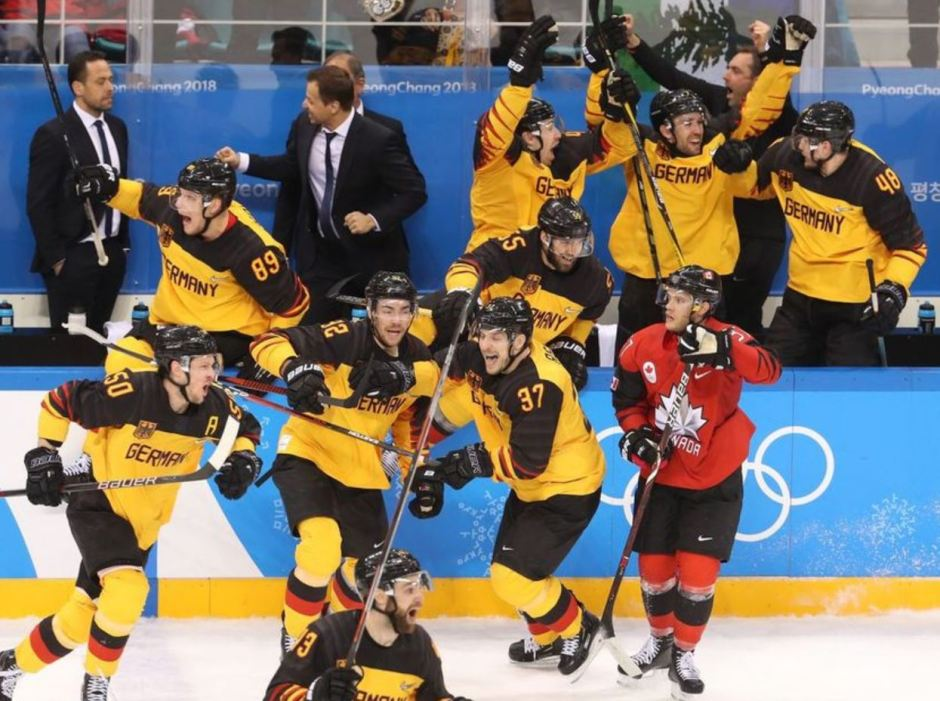 Germany celebrates victory over Canada