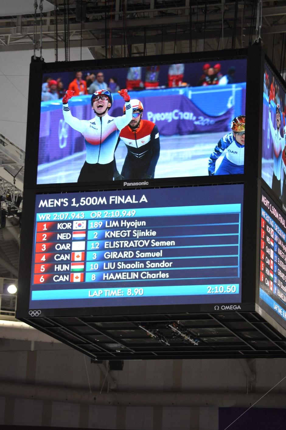 Mens 1500m short skate finals 10