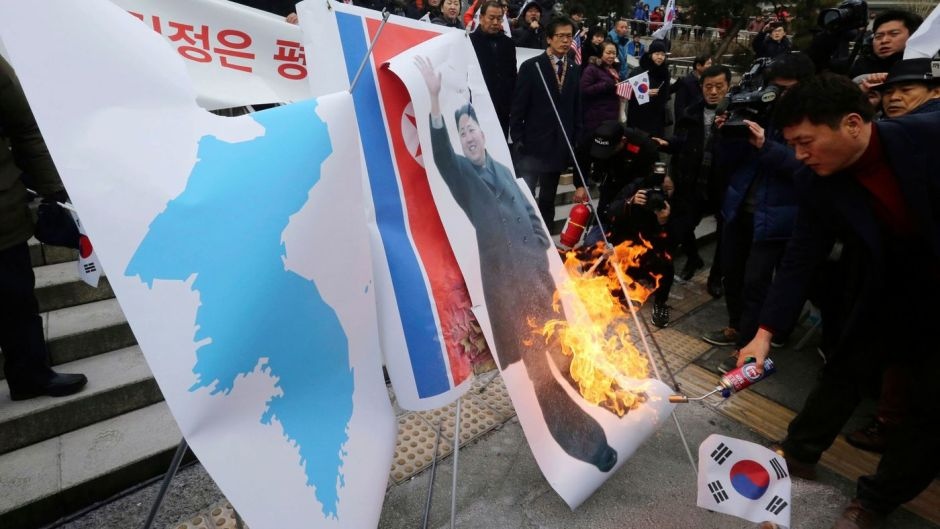 protests against north korea