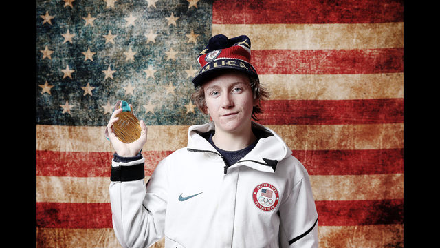 Red Gerard with medal