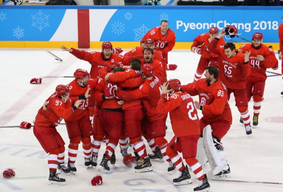 Russian wins ice hockey gold