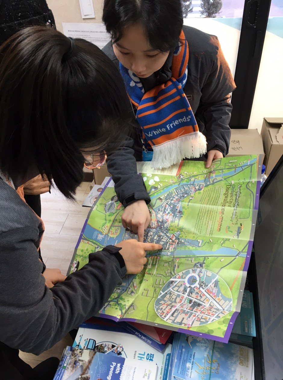 Volunteers at Tourist Information Center