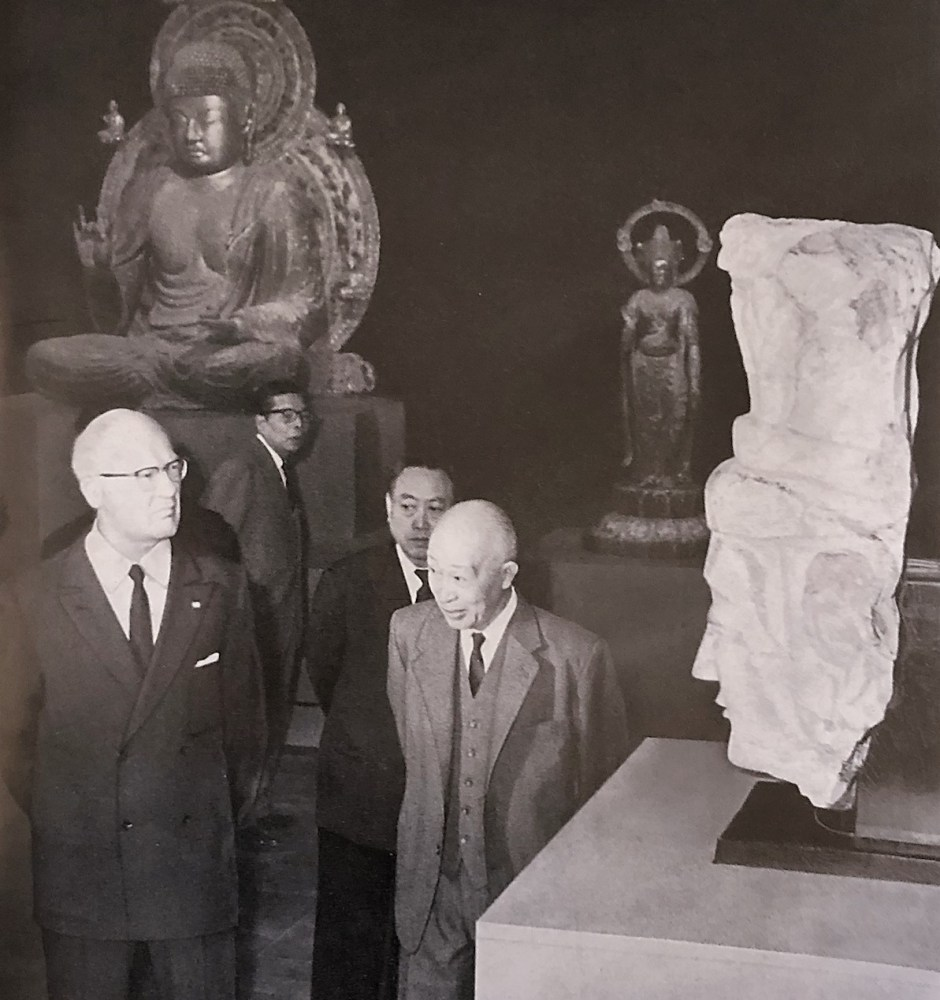 Avery Brundage Visiting an art exhibition in Tokyo, 1958