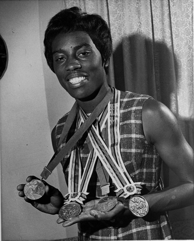 wyomia tyus with four medals