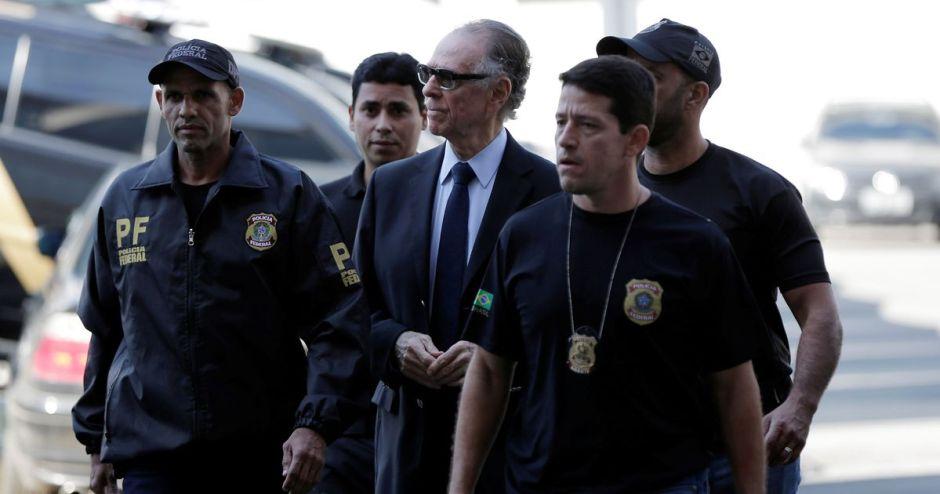 Carlos Nuzman with Police