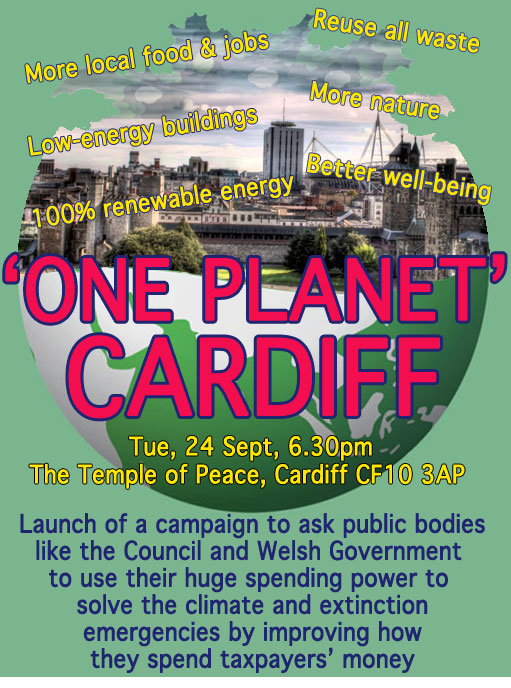 Poster for One Planet Cardiff campaign launch