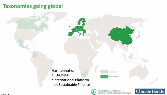 Taxonomies going global map