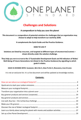 One-Planet-Standard-Solutions-Handbook-cover