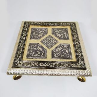 Antique Rajwadi Chowki 8″X 8″