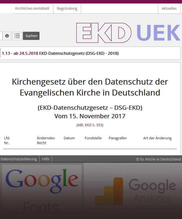 Follow-up: Eine Woche DSG-EKD und DSGVO