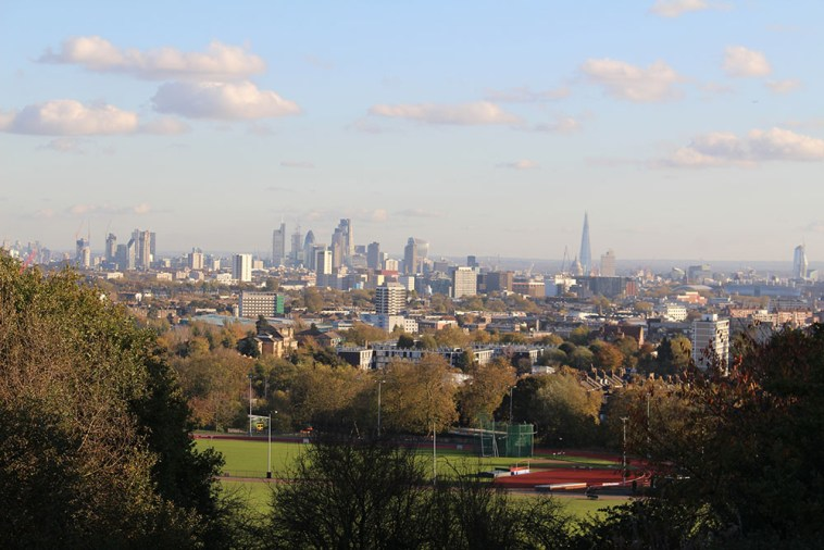 View to London from Parliament Hill Viewpoint, Hampstead Heath