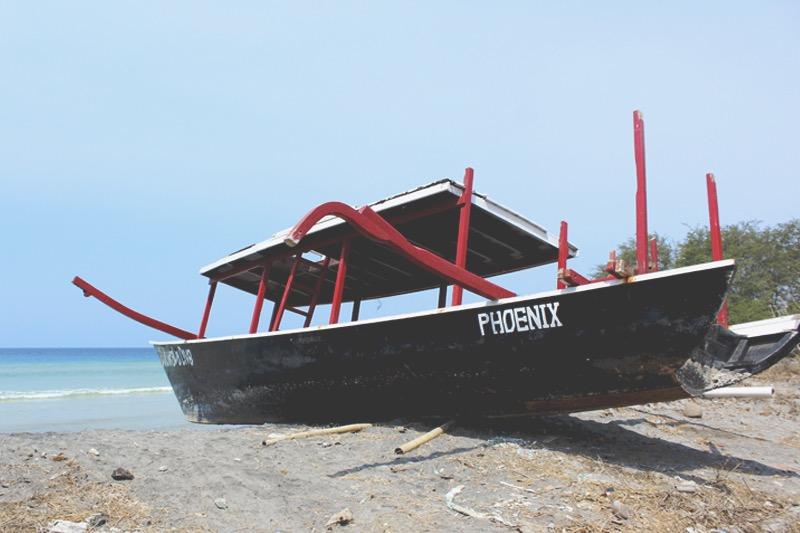 Shipwreck at Gili Meno