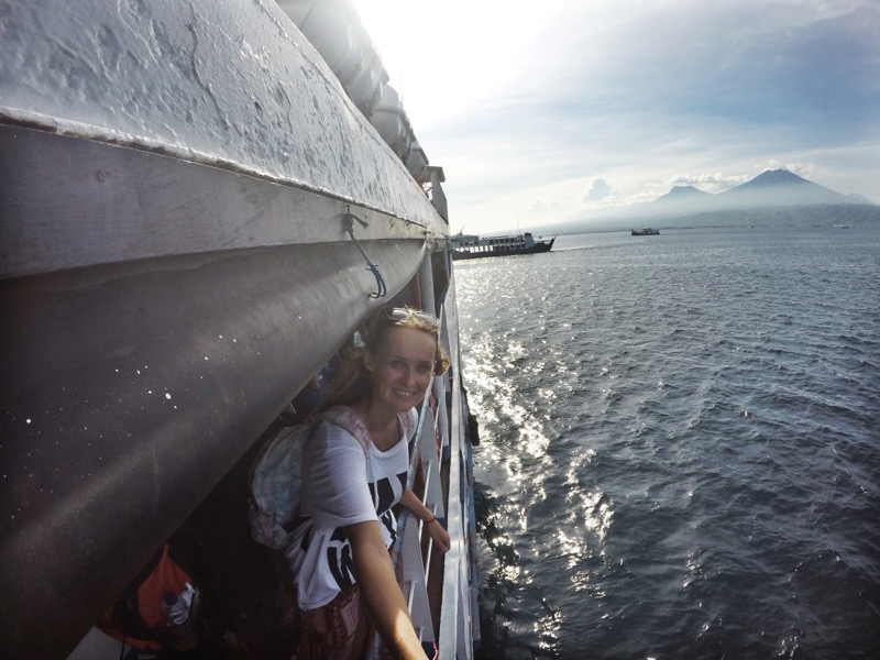 The One Who Wanders from the ferry, heading to Banyuwangi, East Java