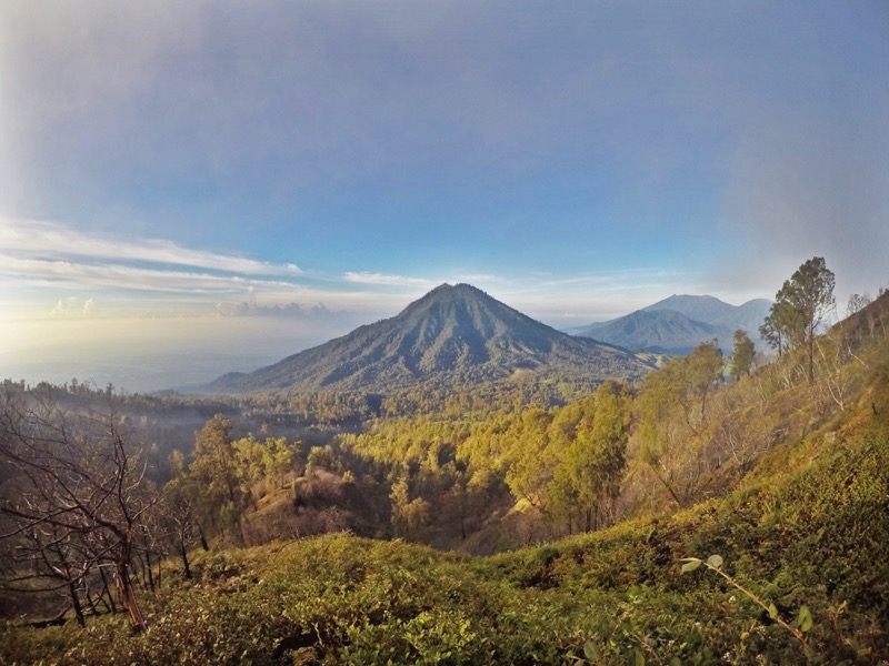The stratovolcanos in East Java