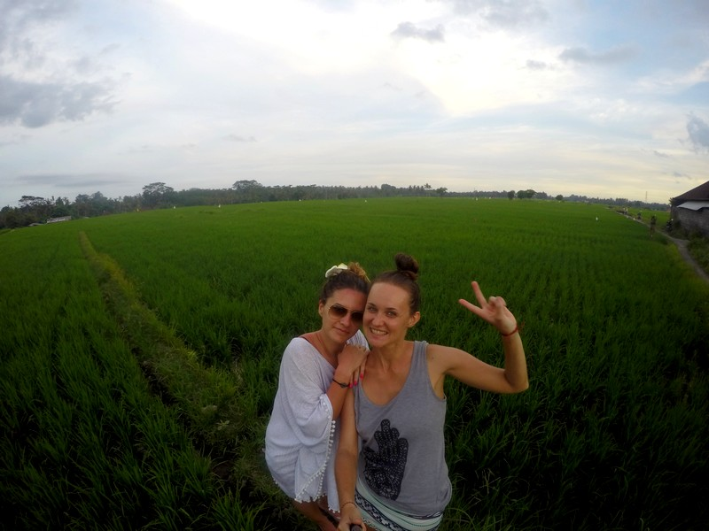 Me and Agata in the rice fields