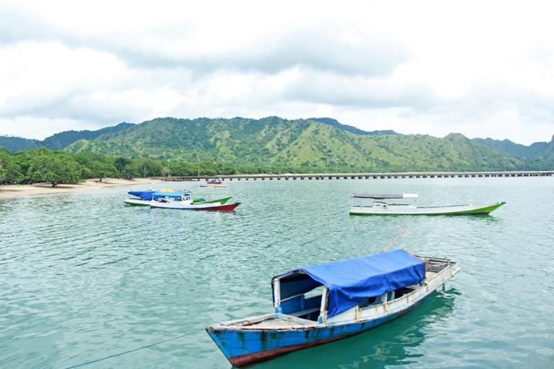 Prístav na ostrove Komodo