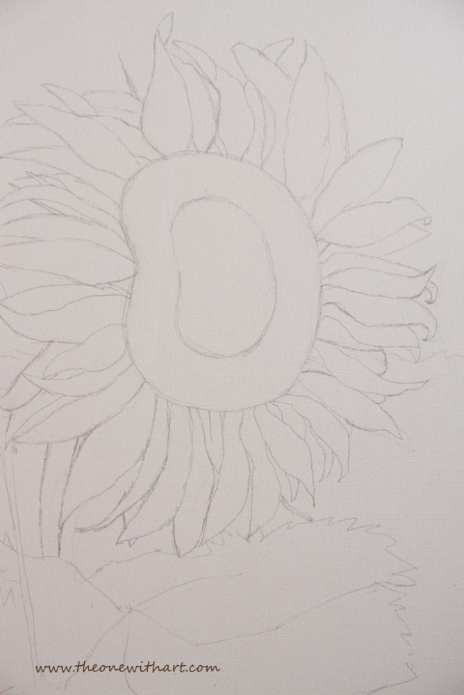 Acrylic Painting - Sunflower Step by Step (2/4)
