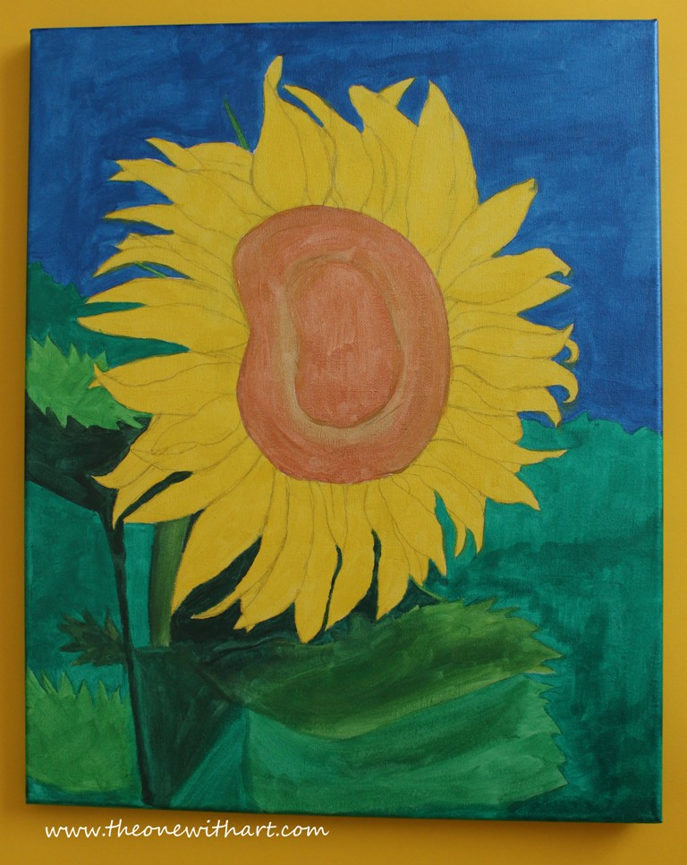 Acrylic Painting - Sunflower Step by Step (3/4)