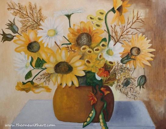 fall flowers logo